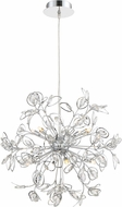 Quoizel PCCF2824C Platinum Collection Crystal Leaf Modern Polished Chrome Xenon Hanging Chandelier