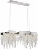 Quoizel PCCL1033PK Platinum Collection Crystal Falls Polished Nickel LED Island Lighting