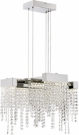 Quoizel PCCL2817PK Platinum Collection Crystal Falls Polished Nickel LED Pendant Lighting Fixture