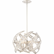 Quoizel PCCN2818PK Platinum Collection Crescent Polished Nickel 18  Drop Ceiling Lighting