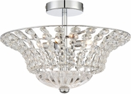 Quoizel PCCR1717C Platinum Collection Crowne Contemporary Polished Chrome Xenon Flush Mount Lighting