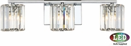 Quoizel PCDV8603CLED Platinum Collection Divine Contemporary Polished Chrome LED 3-Light Bath Lighting Sconce