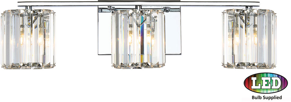Bathroom Sconces Polished Chrome quoizel pcdv8603cled platinum collection divine contemporary