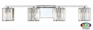 Quoizel PCDV8604CLED Platinum Collection Divine Contemporary Polished Chrome LED 4-Light Bathroom Lighting