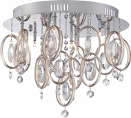 Quoizel PCEL1616C Platinum Collection Ella Polished Chrome Xenon Flush Mount Ceiling Light Fixture