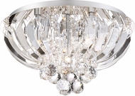 Quoizel PCGN1616C Platinum Collection Glisten Polished Chrome Xenon 16  Flush Mount Ceiling Light Fixture
