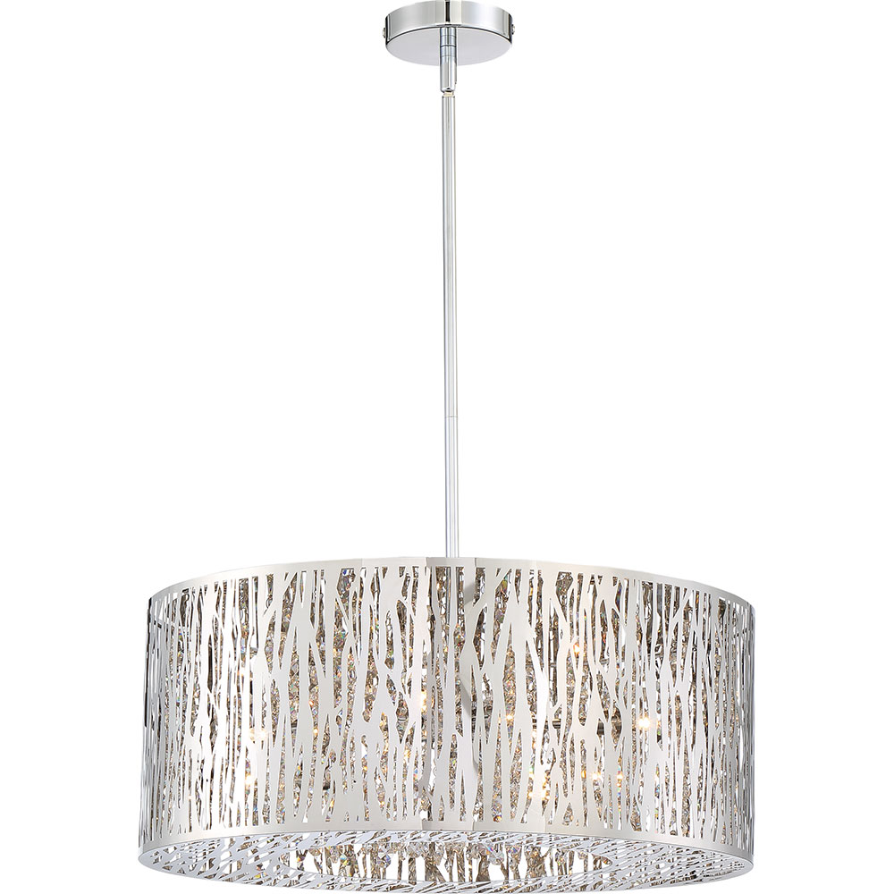 Xenon Ceiling Lights : Quoizel pcgo c platinum collection grotto polished