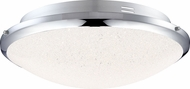 Quoizel PCGR1615C Platinum Collection Glimmer Polished Chrome LED 13  Overhead Light Fixture