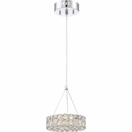 Quoizel PCIN1808C Platinum Collection Infinity Polished Chrome LED Drop Lighting Fixture