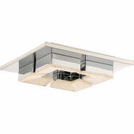 Quoizel PCLT1611C Platinum Collection Lunette Polished Chrome LED Ceiling Light Fixture