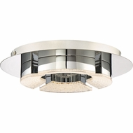 Quoizel PCLT1612C Platinum Collection Lunette Polished Chrome LED Flush Lighting