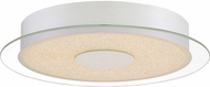 Quoizel PCMT1614W Platinum Collection Moonlit Modern White Lustre LED Flush Mount Ceiling Light Fixture