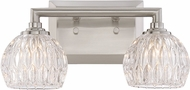 Quoizel PCSA8602BN Platinum Collection Serena Modern Brushed Nickel Xenon 2-Light Bathroom Light Fixture