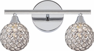 Quoizel PCSR8602C Platinum Collection Shimmer Polished Chrome Xenon 2-Light Bathroom Lighting Fixture