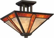Quoizel PER1715TB Pearce Tiffany Terra Bronze Flush Mount Light Fixture