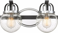 Quoizel PMT8602EK Piermont Modern Earth Black 2-Light Bathroom Lighting