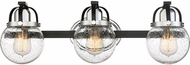 Quoizel PMT8603EK Piermont Contemporary Earth Black 3-Light Lighting For Bathroom