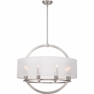 Quoizel PTD2826BN Portland Brushed Nickel Finish 28  Wide Drop Ceiling Light Fixture