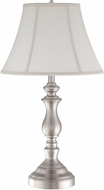 Quoizel Q1054TBN Brushed Nickel Side Table Lamp