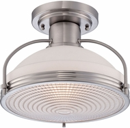 Quoizel QF1678BN Modern Brushed Nickel Flush Mount Light Fixture