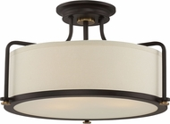 Quoizel QF1715WT Western Bronze Flush Mount Lighting Fixture