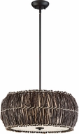 Quoizel QF2782DC Dark Cherry Drum Pendant Hanging Light