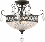 Quoizel QF2807IB Imperial Bronze Flush Mount Lighting Fixture