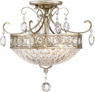 Quoizel QF2807VP Vintage Silver Flush Ceiling Light Fixture