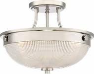 Quoizel QF3631PK Modern Polished Nickel Flush Mount Lighting Fixture
