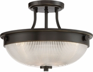 Quoizel QF3631PN Contemporary Palladian Bronze Flush Ceiling Light Fixture