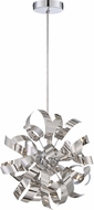 Quoizel RBN1512C Ribbons Contemporary Polished Chrome Xenon Hanging Light Fixture