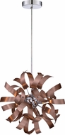 Quoizel RBN1512SG Ribbons Contemporary Satin Copper Xenon Ceiling Light Pendant