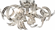 Quoizel RBN1616CRC Ribbons Crystal Chrome Xenon Flush Mount Light Fixture