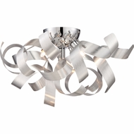 Quoizel RBN1616MN Ribbons Modern Millenia Finish 16.5  Wide Xenon Flush Mount Ceiling Light Fixture