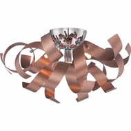 Quoizel RBN1616SG Ribbons Contemporary Satin Copper Finish 16.5  Wide Overhead Light Fixture