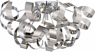 Quoizel RBN1622C Ribbons Modern Polished Chrome Xenon Flush Mount Ceiling Light Fixture