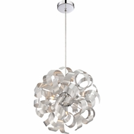 Quoizel RBN2817MN Ribbons Contemporary Millenia Finish 17  Tall Xenon Pendant Lamp