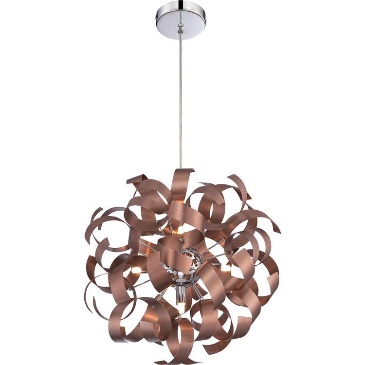 contemporary pendant lighting fixtures. quoizel rbn2817sg ribbons modern satin copper finish 17u0026nbsp tall pendant lighting fixture loading zoom contemporary fixtures s