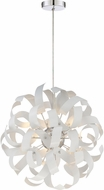 Quoizel RBN2817W Ribbons Contemporary White Lustre Xenon Pendant Lighting