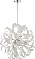 Quoizel RBN2823W Ribbons Contemporary White Lustre Xenon Pendant Lamp
