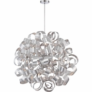 Quoizel RBN2831MN Ribbons Modern Millenia Finish 31  Tall Hanging Pendant Light