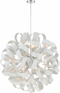 Quoizel RBN2831W Ribbons Contemporary White Lustre Xenon Pendant Light Fixture