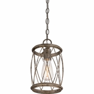 Quoizel RDY1506CS Dury Century Silver Leaf Finish 11  Tall Mini Hanging Light