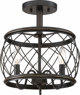 Quoizel RDY1712PN Dury Contemporary Palladian Bronze 12.5  Ceiling Lighting Fixture