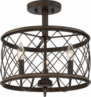 Quoizel RDY1714PN Dury Palladian Bronze Flush Lighting