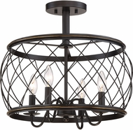 Quoizel RDY1717PN Dury Modern Palladian Bronze 17.5  Flush Mount Lighting