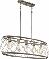 Quoizel RDY538CS Dury Contemporary Century Silver Leaf Kitchen Island Lighting