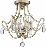 Quoizel REG1716VG Regent Traditional Vintage Gold Home Ceiling Lighting
