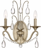 Quoizel REG8702VG Regent Traditional Vintage Gold Wall Sconce Light