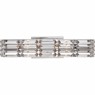 Quoizel RYE8604C Royale Contemporary Polished Chrome Finish 5  Tall Xenon Bathroom Light Sconce
